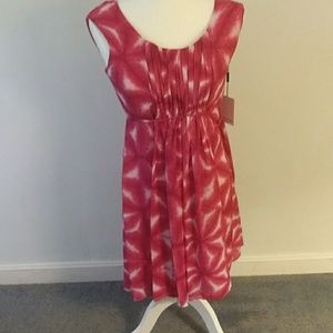 ⚡NWT CALVIN KLEIN Pink and White Tie-Dye dress